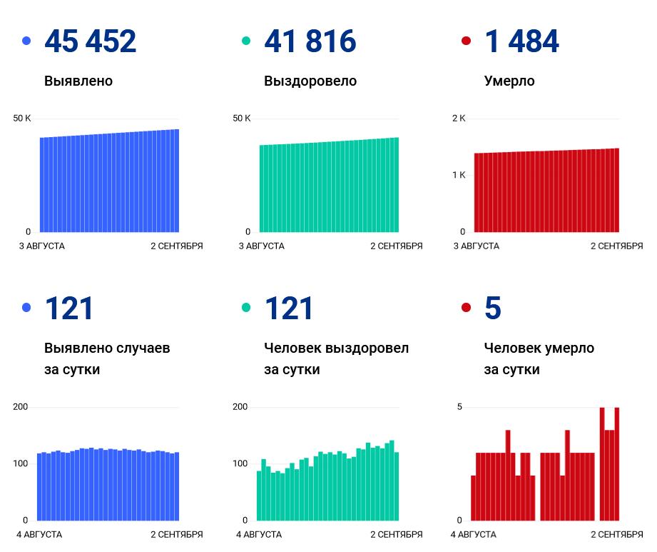 В Ивановской области за сутки подтвердилось 5 смертей от коронавируса