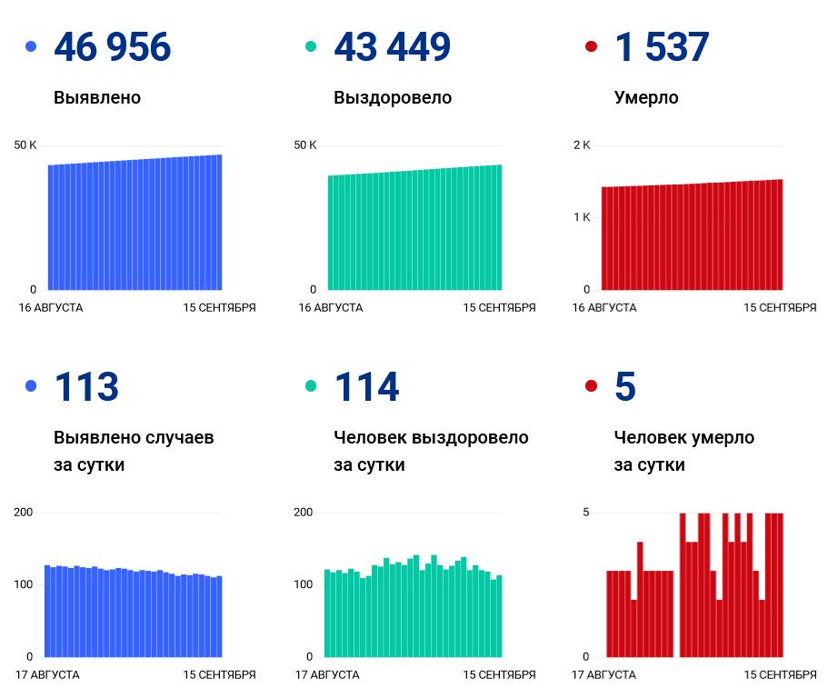 113 человек заразились, 5 умерли в Ивановской области за сутки