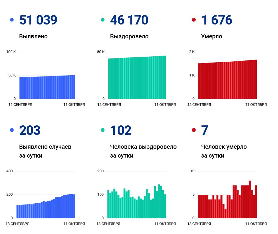 203 человека заразились, 7 умерли за сутки от ковида в Ивановской области