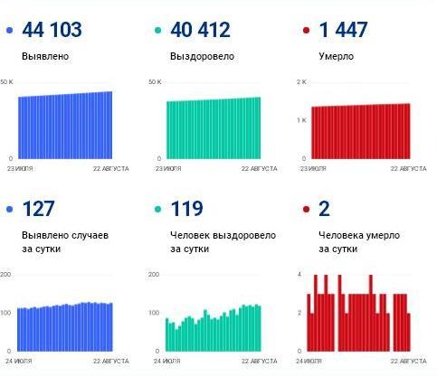Число ковид-зараженных в регионе превысило 44 000 человек