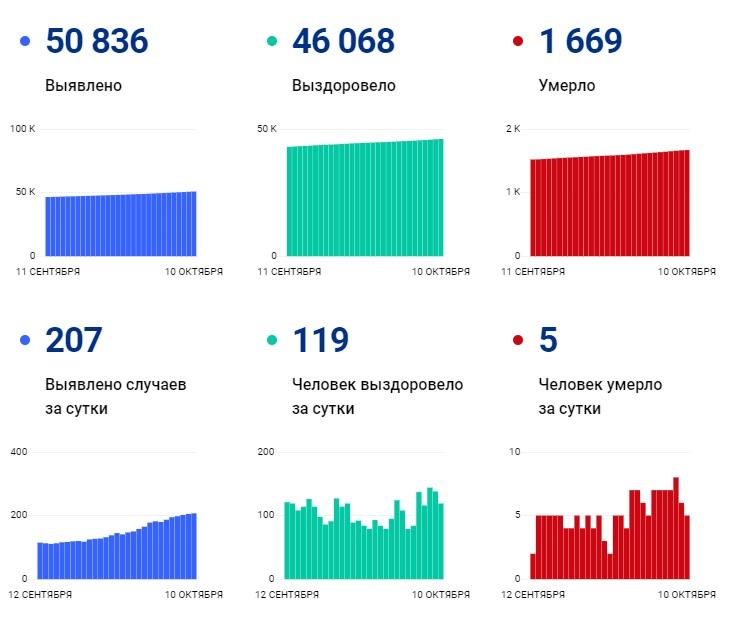 За сутки в Ивановской области заразились ковидом 207 человек